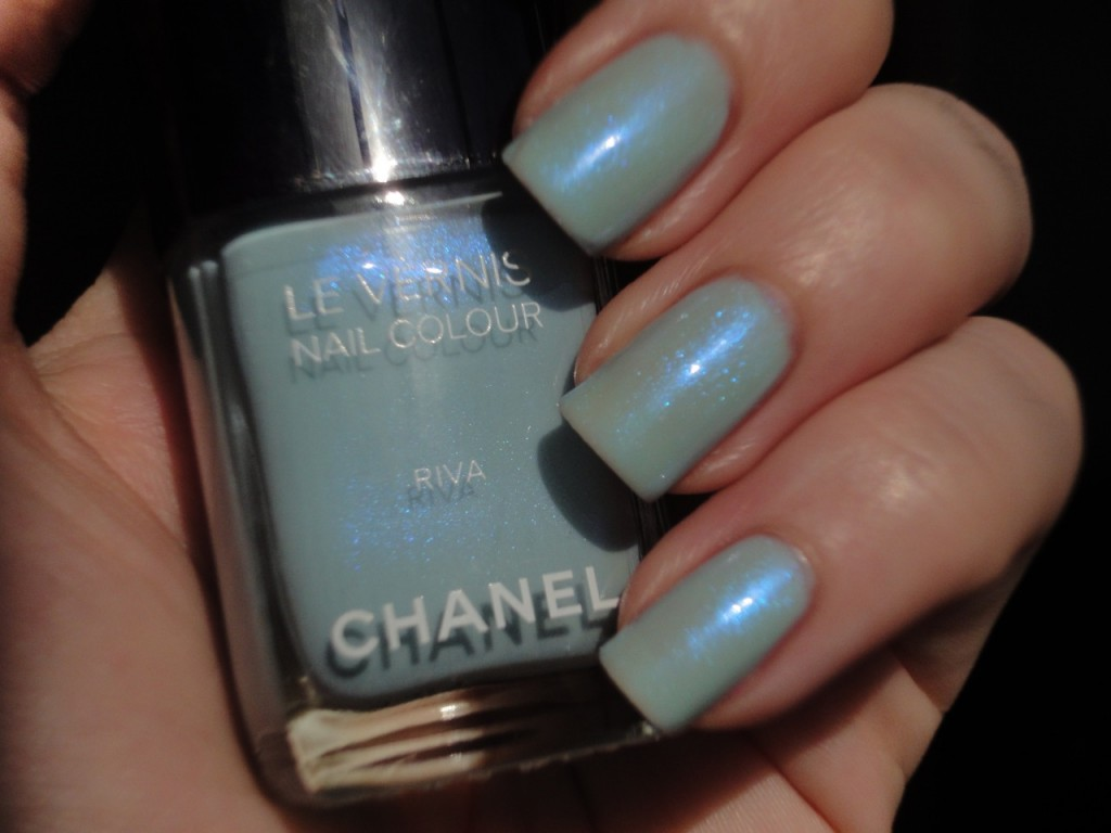 Chanel Riva with CND Ice Bue Shimmer