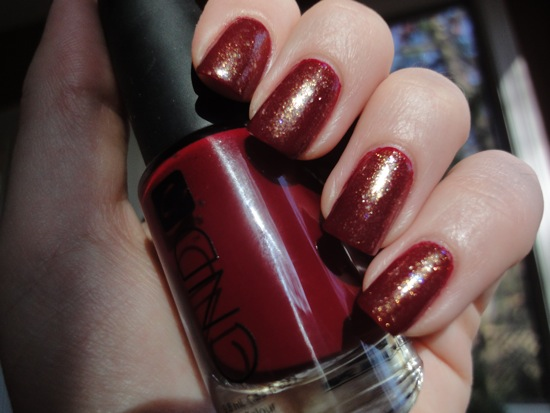 CND Bloodline with Chanel Illusion D'or