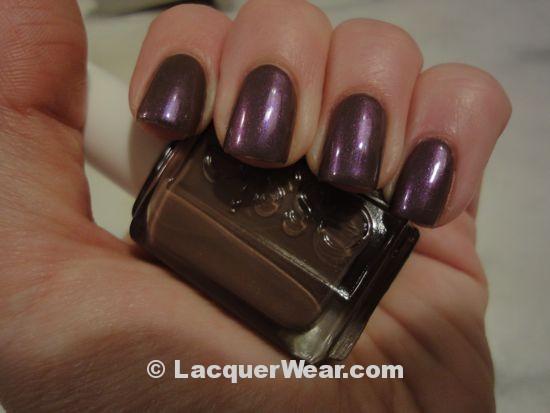 Essie Hot Coco w/ CND Violet Shimmer