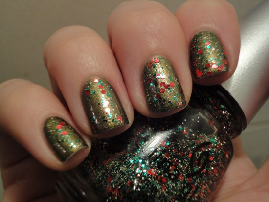 China Glaze Peace on Earth w/ Party Hearty