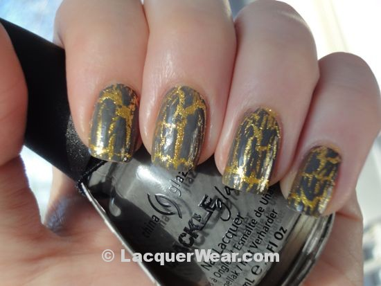 China Glaze Cracked Concrete over Lighthouse, shade