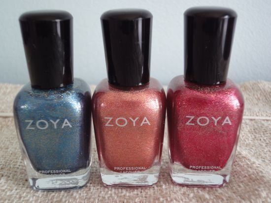 Crystal, Tiffany and Gloria - Zoya Flame Collection
