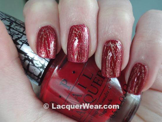 OPI Red Shatter, Rally Pretty Pink