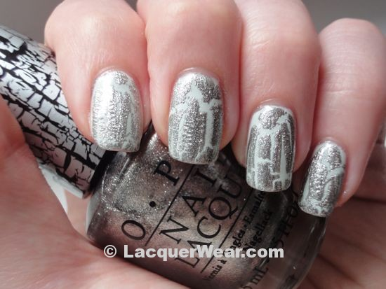 OPI Silver Shatter, Essie Absolutely Shore