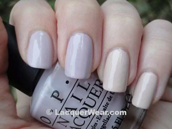 OPI Steady As She Rose, Essie Topless and Barefoot