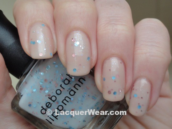 Deborah Lippmann Glitter in the Air over Naked