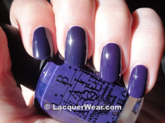 OPI Road House Blues, Sapphire in the Snow